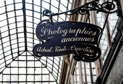Passage Verdeau -  Shop sign, Passage Verdeau, Paris, France.