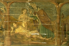 Eglise Notre-Dame du Tertre - English: Painting on the ceiling in the chapel of Notre-Dame-du-Tertre in Châtelaudren, Brittany, France