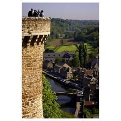 Vieux pont -  La Rance from Dinan walls