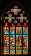 Eglise Saint-Jean - Français:   Saint Jean-Baptiste prêchant.  Vitrail signé F. Haussaire[1] et Léon Payan[2], 131 rue de Vaugirard, Paris, 1903.