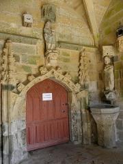 Eglise Saint-Loup - Français:   Église Saint-Loup de Lanloup (22). Porche sud. Portail intérieur.