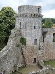 Château de la Hunaudaye - Français:   Vue depuis l\'intérieur de la tour ouest du château de la Hunaudaye. Cette tour est appelée tour noire.
