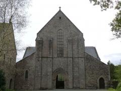 Abbaye de Boquen - Français:   Façade occidentale de l\'église abbatiale