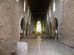 Abbaye de Boquen - English: Interior of Abbey Church, Abbaye de Boquen