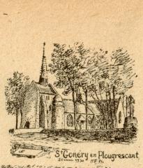 Chapelle Saint-Gonéry et cimetière - Brezhoneg: Plougouskant. Sant Goniri. La Messelière