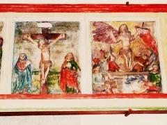 Eglise Saint-Milliau - Français:   Ploumilliau: panneaux polychromes de l\'ancien jubé 2