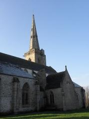 Eglise Sainte-Catherine - Flanc nord de l'église Sainte-Catherine de La Roche-Derrien (22).