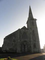 Eglise Sainte-Catherine - Façade occidentale de l'église Sainte-Catherine de La Roche-Derrien (22).
