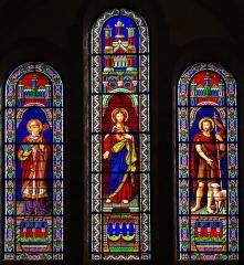 Eglise Saint-Malo - Sacré-coeur, Saint-Jean-Baptiste et un évêque, signé A. Laigneau[1] de Saint-Brieuc 1883 (?)
