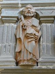 Eglise Notre-Dame - Fonts baptismaux de l'église Notre-Dame de Bodilis (29). Saint-Pierre.
