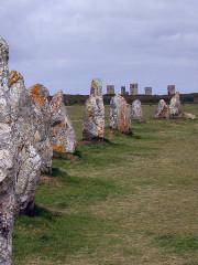 Alignements mégalithiques du Toulinguet -  Alignement von Lagatjar bei Canaret-sur-Mer