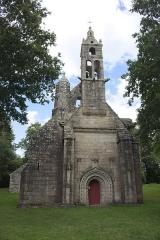 Chapelle Notre-Dame des Trois-Fontaines - Façade occidentale de la chapelle des Trois-Fontaines, commune de Gouézec, Finistère, Bretagne , France.