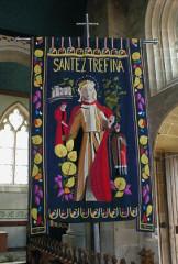 Eglise Saint-Ténénan - Brezhoneg: Gwerliskin. Banniel Santez Trifina