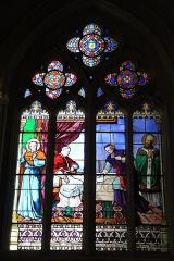 Ancienne abbaye de Saint-Guénolé -  Un vitrail de la cathédrale Saint-Corentin de Quimper.