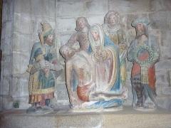 Place de l'Eglise - Français:   Locronan: église Saint-Ronan, descente de croix