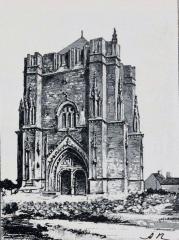 Ruines de la tour de Saint-Guénolé - Français:   Penmarc\'h: la Tour Saint-Guénolé avant 1903 (dessin de A. Karl)