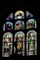 Eglise Saint-Pierre et chapelle funéraire - Deutsch: Katholische Pfarrkirche Saint-Pierre in Pleyber-Christ im Département Finistère (Region Bretagne/Frankreich), Bleiglasfenster