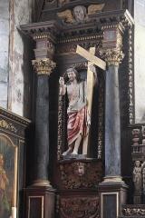 Eglise Saint-Pierre et chapelle funéraire - Deutsch: Katholische Pfarrkirche Saint-Pierre in Pleyber-Christ im Département Finistère (Region Bretagne/Frankreich), Altar