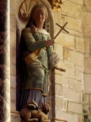 Chapelle Notre-Dame de Kergoat - Français:   Chapelle Notre-Dame de Kergoat en Quéménéven (29). Statue de Sainte-Marguerite-d\'Antioche.