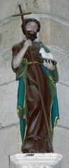 Chapelle Notre-Dame de Kergoat - Français:   Chapelle Notre-Dame de Kergoat en Quéménéven (29). Statue de Saint-Jean-Baptiste.