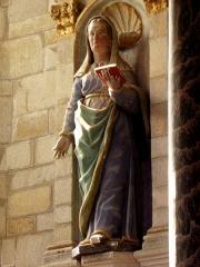 Chapelle Notre-Dame de Kergoat - Français:   Chapelle Notre-Dame de Kergoat en Quéménéven (29). Statue de Sainte-Françoise.