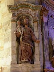 Chapelle Notre-Dame de Kergoat - Français:   Chapelle Notre-Dame de Kergoat en Quéménéven (29). Statue de Saint-Joseph et l\'Enfant Jésus.