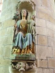 Eglise Notre-Dame-de-l'Assomption ou de Saint-Michel - Français:   Quimperlé: statue Notre-Dame de Bonne Nouvelle dans l\'église Notre-Dame de l\'Assomption