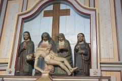 Eglise Saint-Nicaise et cimetière - Deutsch: Katholische Kirche Saint-Nicaise in Saint-Nic im Département Finistère (Region Bretagne/Frankreich), Beweinung Christi