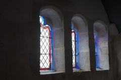 Eglise Saint-Nicaise et cimetière - Deutsch: Katholische Kirche Saint-Nicaise in Saint-Nic im Département Finistère (Region Bretagne/Frankreich), Fenster