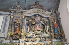 Eglise Saint-Nicaise et cimetière - Deutsch: Katholische Kirche Saint-Nicaise in Saint-Nic im Département Finistère (Region Bretagne/Frankreich), Rosenkranzaltar