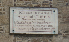 Ancien hôtel de la Belinaye -  Maison natale de La Rouërie, inscription