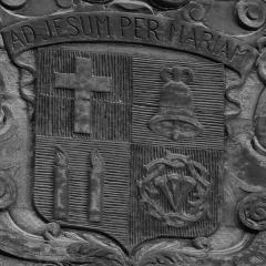 Basilique Saint-Sauveur - Français:   Armoiries de la basilique Saint-Sauveur de Rennes.