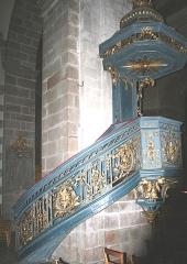 Basilique Saint-Sauveur - Français:   Chaire de l\'église Saint-Sauveur, Rennes, 18e siècle