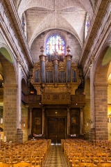 Basilique Saint-Sauveur - Français:  Entrée de la basilique Saint-Sauveur de Rennes (France).