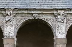 Hospice Saint-Mélaine - Français:   Septième arcade de la galerie ouest du cloître de l\'ancienne abbaye saint Melaine de Rennes.