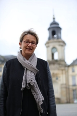 Hôtel de ville - Nathalie Appéré, alors députée de la 2e circonscription d'Ille-et-Vilaine, et candidate PS à la mairie de Rennes
