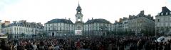 Hôtel de ville - Place de la Mairie de Rennes - 6 mai 2012 au soir, résultats de l'élection présidentielle 2012