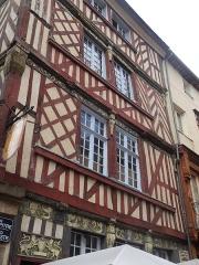 Maison - English: Rennes. Rue de la Psalette - Rue du Chapitre