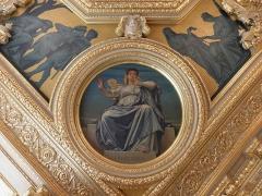 Palais de Justice - La prudence. Angle du plafond à caissons de la salle Jobbé-Duval du Parlement de Bretagne à Rennes (35).