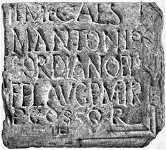 Porte Mordelaise - English: Image from the book File:Mowat - Études philologiques sur les inscriptions gallo-romaines de Rennes.djvu, page 35, first image.