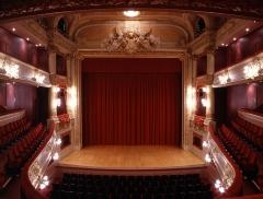 Théâtre et immeubles dits Galeries du Théâtre - Vue de la scène depuis le premier balcon