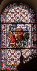 Eglise Saint-Briac - Français:   Saint-Briac délivre un malheureux d\'un serpent