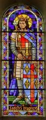 Eglise Saint-Briac - Français:   Saint-Louis, signé A. Maheu (artiste verrier et secrétaire de l'École des beaux-arts de Rennes[1])
