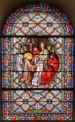 Eglise Saint-Briac - Français:   saint-Briac à Rome, vitrail signé Ch. Champigneulle fils de Paris et Cie[1] (pas de date)