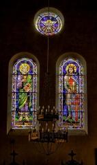 Eglise Saint-Briac - Français:   Transept sud, saint-Jean et saint-Louis, verrières d\'Alexandre Maheu