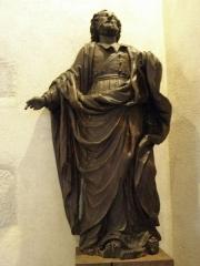Ancienne église Saint-Lunaire - Français:   Statue de Saint-Pierre (XVIIIème) de la vieille église de Saint-Lunaire (35).