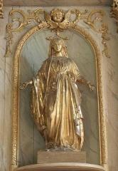 Ancienne église Saint-Lunaire - Français:   Vierge des années 1840 ornant le ratble sud de la vieille église de Saint-Lunaire (35).