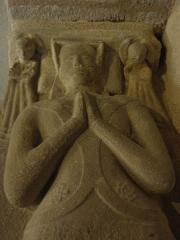 Ancienne église Saint-Lunaire - Français:   Gisant de la dame de la Tendourie, épouse d\'Olivier de Pontbriant en la vieille église de Saint-Lunaire (35).
