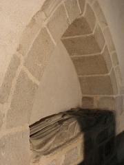 Ancienne église Saint-Lunaire - Français:   Enfeu de Jeanne le Bouteiller, épouse de Jean I de Pontual, en la vieille église de Saint-Lunaire (35).