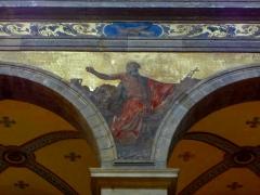 Eglise Sainte-Croix - Français:   Église Sainte-Croix de Saint-Servan, commune de Saint-Malo (35)  Fresques peintes par Louis Duveau (Saint-Malo 1818 - Paris 1867) du 13 juin 1854 au 21 mai 1855. Saint-Jérôme.